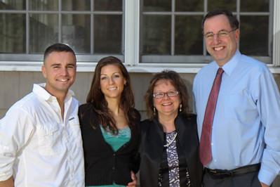 Ben, Beth, Sandy, Michael -- Giglio-Hanlon, Easter Sunday, 4/8/2012