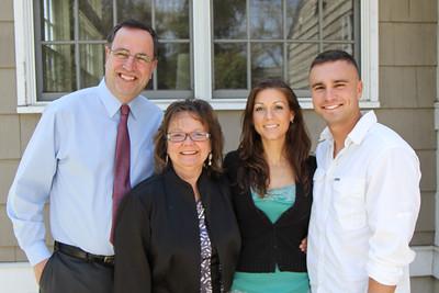 Micheal, Sandy, Beth, Ben -- Giglio-Hanlon, Easter Sunday, 4/8/2012