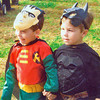 Kevin and Mark as Batman & Robin, Oct. 2006