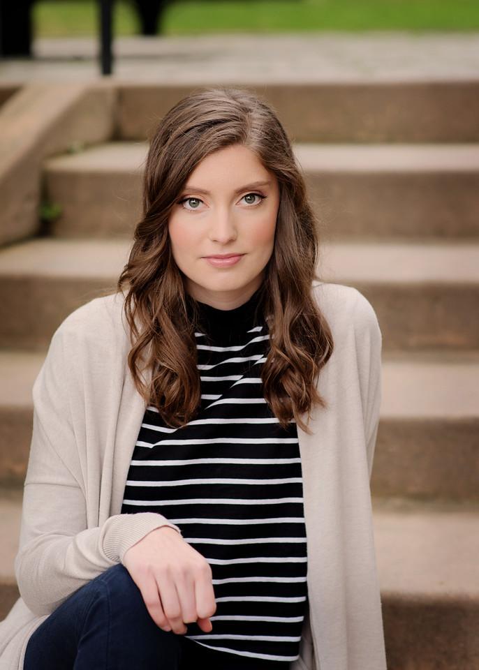 Hannah 12 on the steps