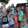 Hannah and her new cabin mates and three counselors
