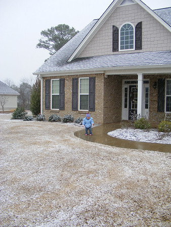 Hannah's second snowfall (snow twice in one week!)