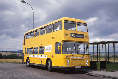 Bee Line_Grampian Hire 554 Heathryfold Terminus Aberdeen Jun 89