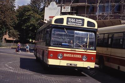 Hants and Sussex AML567H Havant Bus Stn Sep 90
