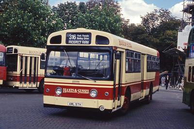 Hants and Sussex AML97H Havant Bus Stn Sep 90