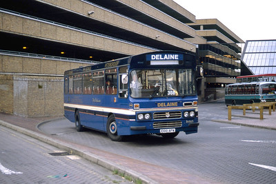 Delaine Bourne E100AFW Peterborough Bus Station Sep 94