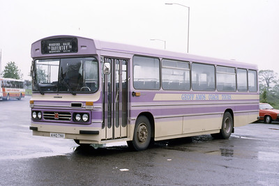 Geoff Amos Eydon A140TNV Banbury Bus Station May 87