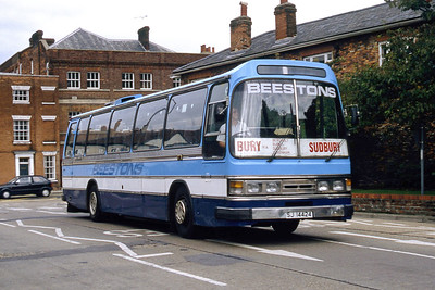 Beeston Hadleigh SJI4424 Sudbury Bus Station Sep 94
