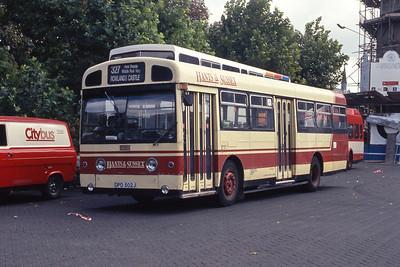 Hants and Sussex DPD502J Havant Bus Stn Sep 90