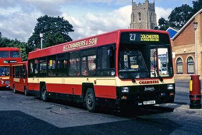 Chambers Bures E87KGV Sudbury Bus Station Sep 94