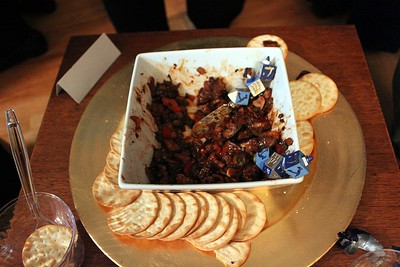 Paul's world-famous olive and eggplant tapenade