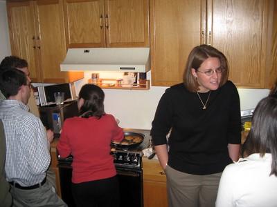Guest latke chef Barbara Baker