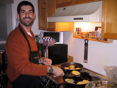 Guest latke chef David Fifer