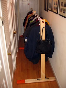 The coatrack was a new addition to the party this year
