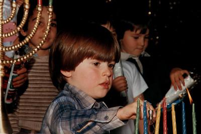 Children Lighting Hanukkah Candles (Sacramento, CA)