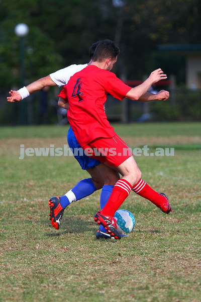 31-5-15. South Port Hapoel Morning XI v Eastern City FC.  Hapoel lost 0 - 1 at Alma Park, East St Kilda. Photo: Peter Haskin