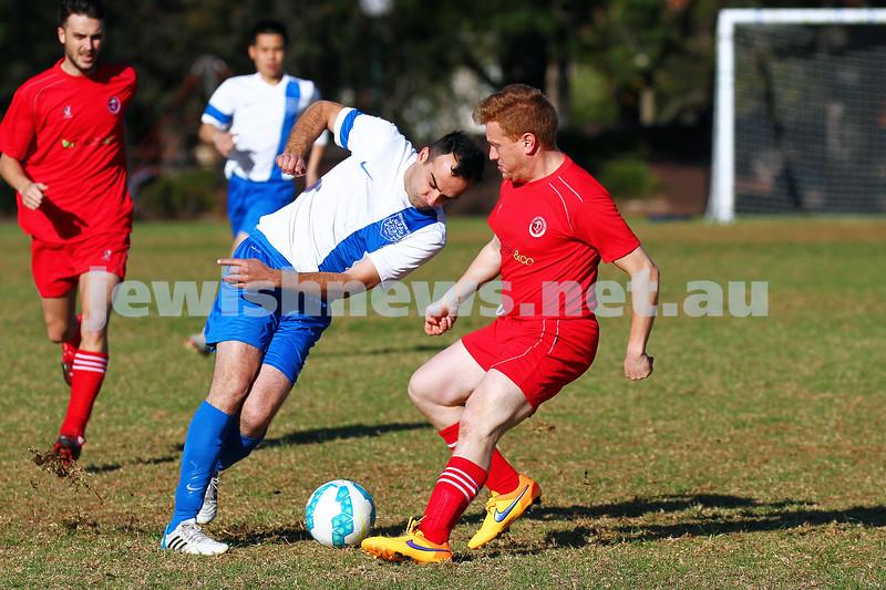 31-5-15. South Port Hapoel Morning XI v Eastern City FC.  Hapoel lost 0 - 1 at Alma Park, East St Kilda. Photo: Peter Haskin