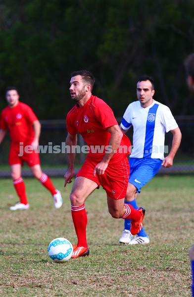 31-5-15. Hapoel v Eastern City FC.  Hapoel lost 0 - 1 at Alma Park, East St Kilda. Photo: Peter Haskin