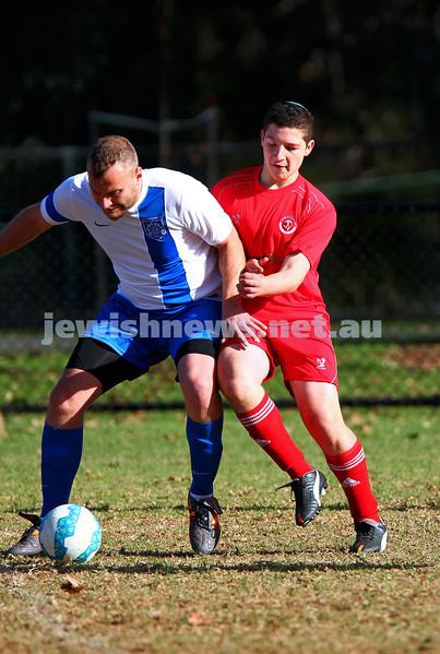 31-5-15. Hapoel v Eastern City FC.  Hapoel lost 0 - 1 at Alma Park, East St Kilda. Photo: Peter Haskin