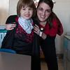 Liam with his kindergarten teacher, Senora Kehagias.