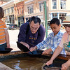 Panning for gold in Victor, CO.