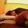 Ah, sleeping in a tent.