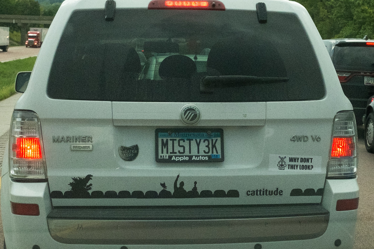 I followed this car for 20 minutes, or about 2 miles on the way home.