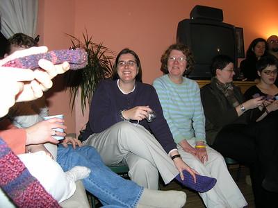 Knitted snake scarf/toy. Charlene, Priscilla, Doris