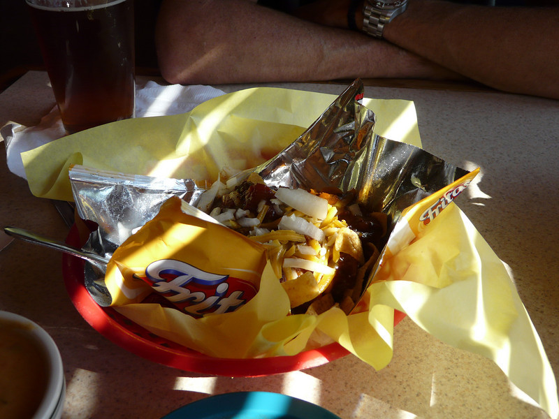 Frito Pie at the Shady Grove... amazing...
