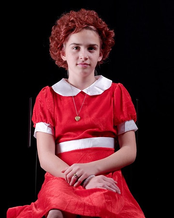 Anya as little orphan Annie.