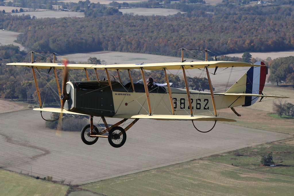 . The first flight at Selfridge Field was on July 8, 1917. It was made by Capt. Byron Jones in a plane just like this one shown here, which will be flying in this year\'s air show. It\'s a Curtiss JN-4 Jenny.