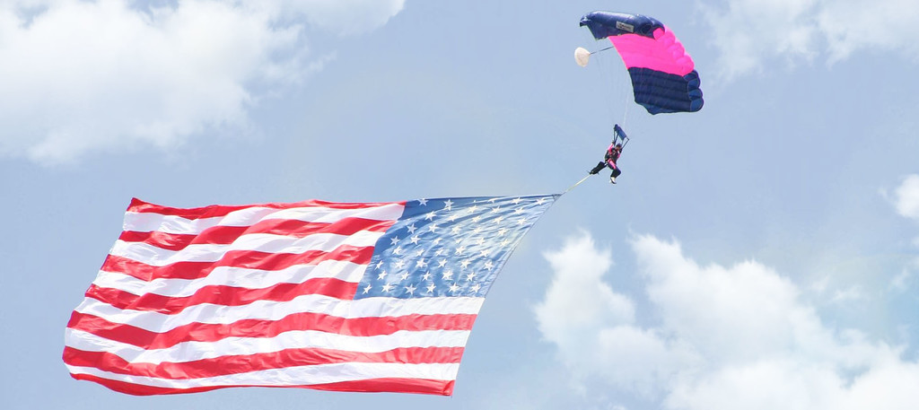 . The Misty Blues, all-women skydiving team are among the performers participating in this year\'s colossal air show.