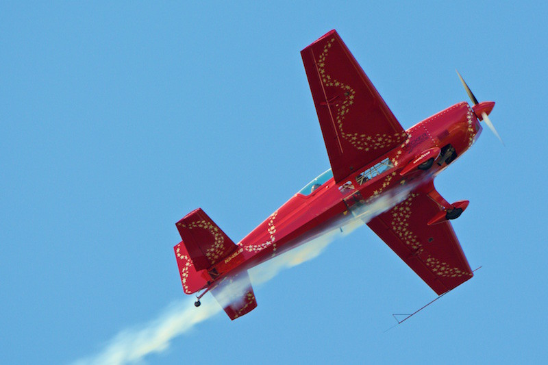 . Jacquie B The Extra 300, shown soaring through the sky will be among the performers at this year\'s anniversary open house and air show.