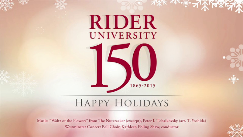 Happy Holidays from Rider University