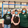 From left, Lori Webster of Chelmsford, Brenda Sullivan of Groton and Manager Ashley Narankevicius of Leominster at the Dunkin' in the Gulf station in Chelmsford