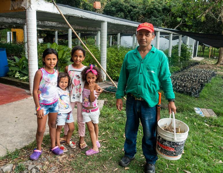 Caretaker and family at Parque Nacional El Vincolo
