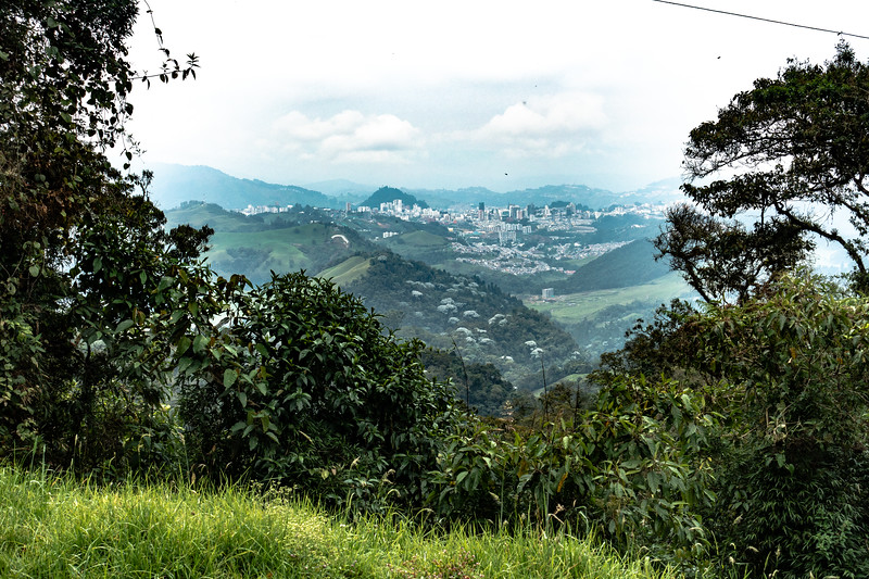 View of Manizales from Rio Blanco