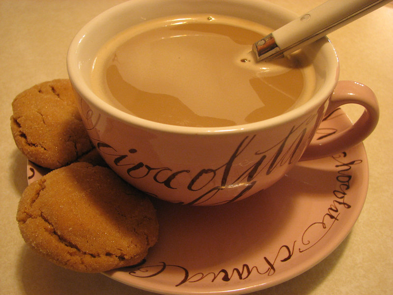 postum with flavored creamer (and Hannah's chewy ginger cookies)