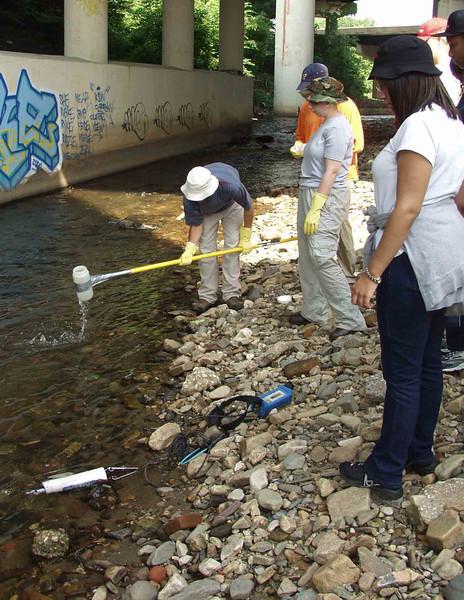 "Gwynns Falls at Carroll Park, manual ""grab"" sampling for water quality"