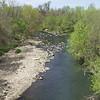 Gwynns Falls stream at Gwynns Falls trail bridge in Carroll Park