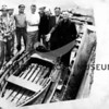 "Crew of ""Sea Rose"" with 12 ft. skiff - all that remained after ""Sea Rose"" sank off British Columbia -= 6/1956"