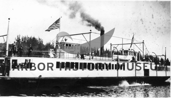 """City of Vancouver""  First ferry to Gig Harbor  July 1,1917"