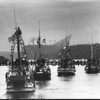 Seiners parade out of the harbor during 1970 Harbor Holidays