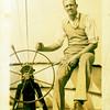 John S. on fishing boat -- 1930s.