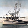 """Joann"" built by George Peterson Boat Co., Tacoma for Marco Malich in 1947<br /> Marco Malich on windbreak<br /> Powered by 671 Jimmy<br /> Later owned by Nick Tarabochia<br /> Currently in Friday Harbor, WA 1996<br /> Updated with a reel"