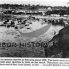 Early fishing fleet - southern end of San Juan Island.<br /> Tents can be seen on beach - homes of families of crew members.