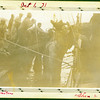 """Men with driftwood during commercial fishing trip; """"Monitor"""" and """"Shenandoah""""."""