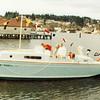 Launch of Dick and Barbara Carlson's Hansa at Eddon Boat Co.