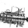"""Steamer """"Tyconda"""" built by Loring and launched in 1898.  Picture taken after pilot house was raised in 1914; passenger aboard sternwheeler."""