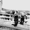 7/30/1941  Gig Harbor, WA, dock, barrels, bow of ship